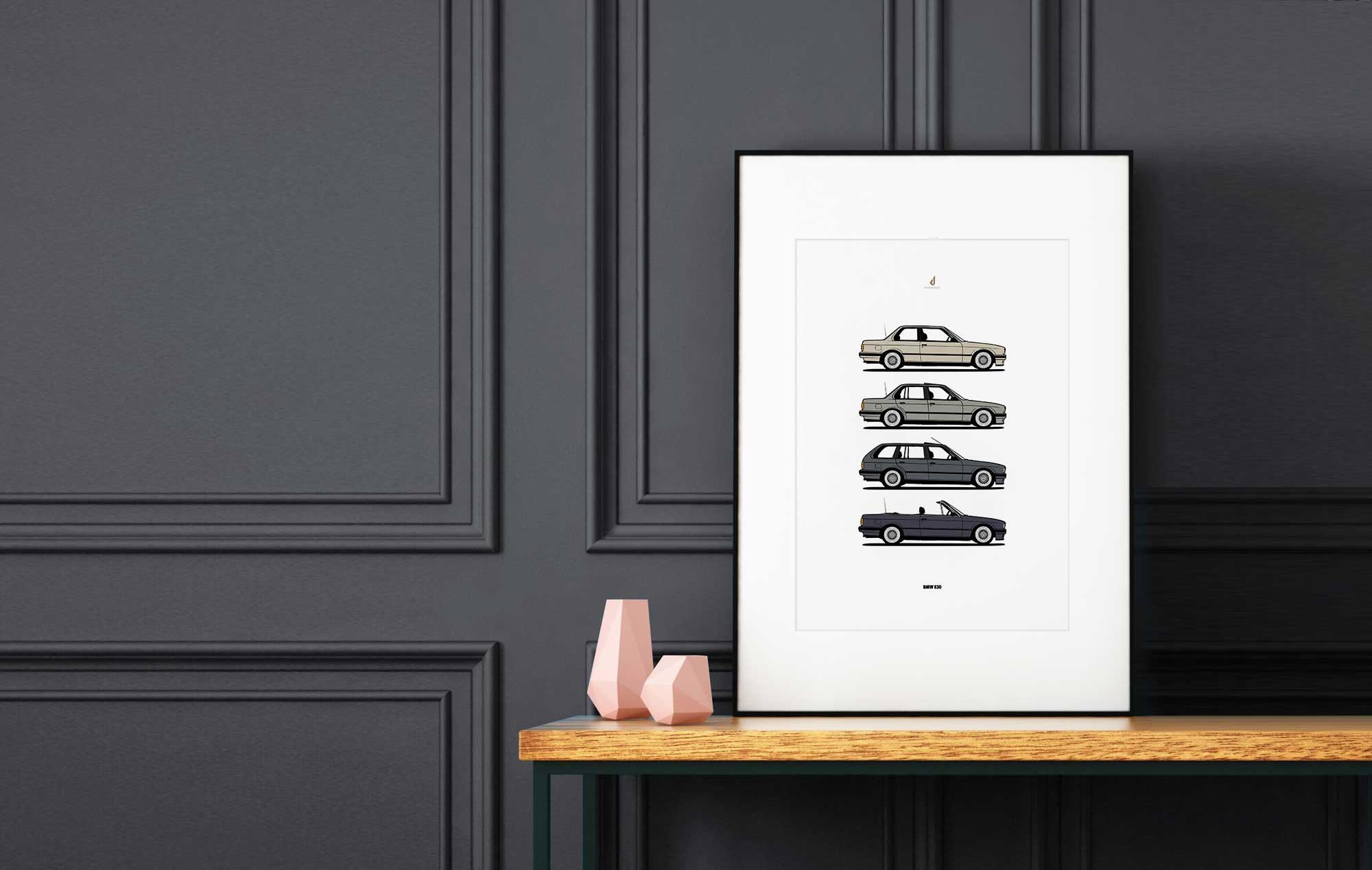 BMW Poster E30 Bahama