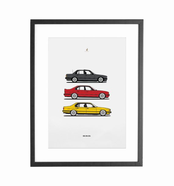German BMW Posters. The Ultimate Color Combination.