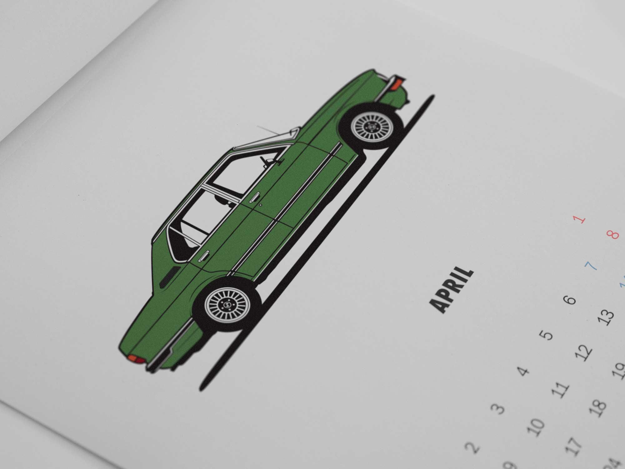 BMW Calendar 2018 Diagonalt