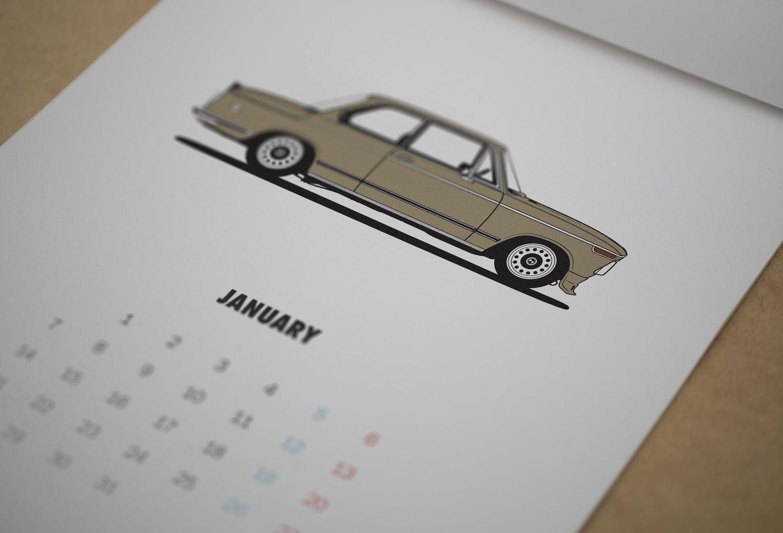 Diagonalt BMW Calendar 2019