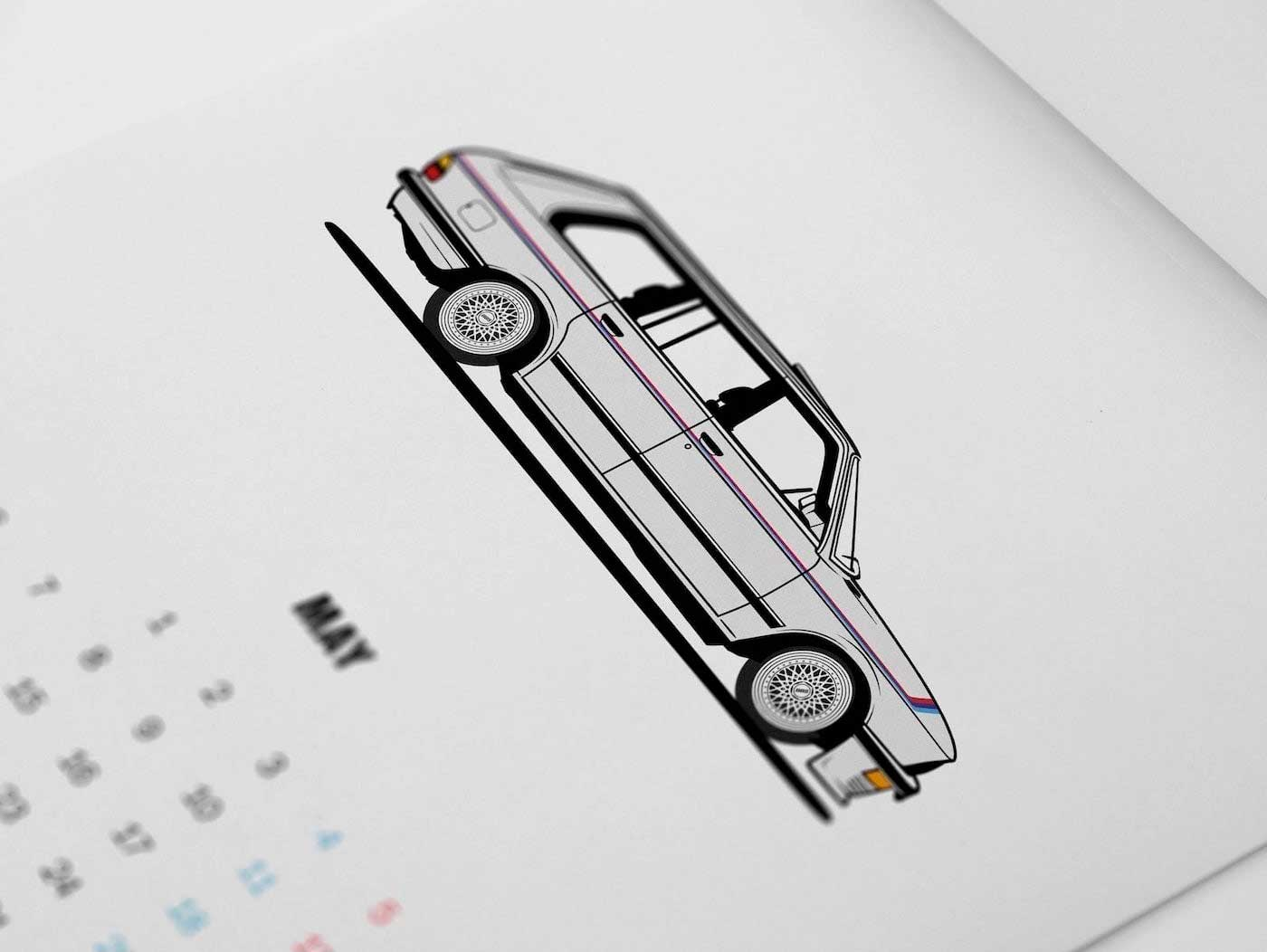 Diagonalt BMW Calendar 2019 - White