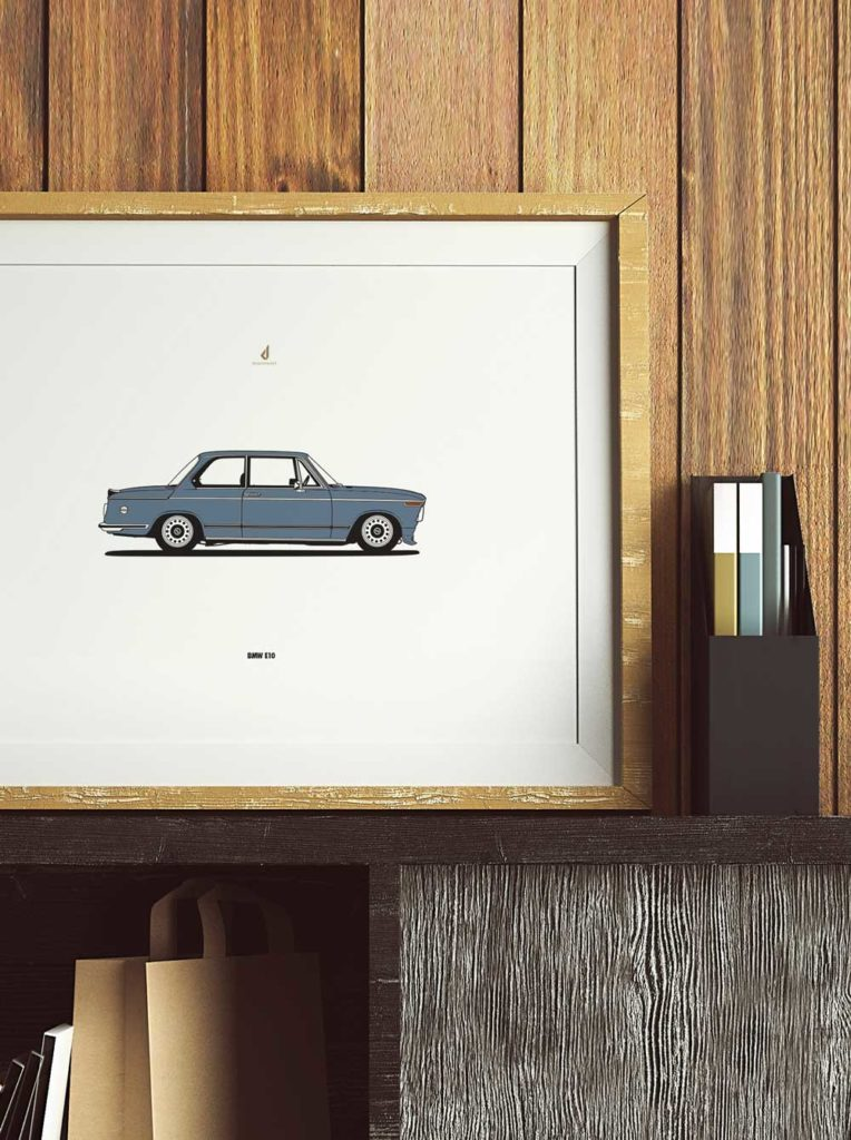Diagonalt Custom Poster BMW E10