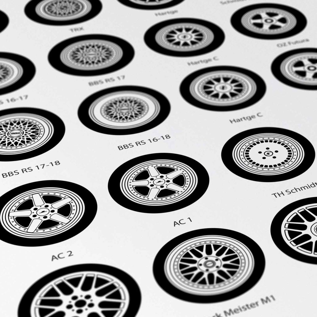 Custom BMW Poster wheels